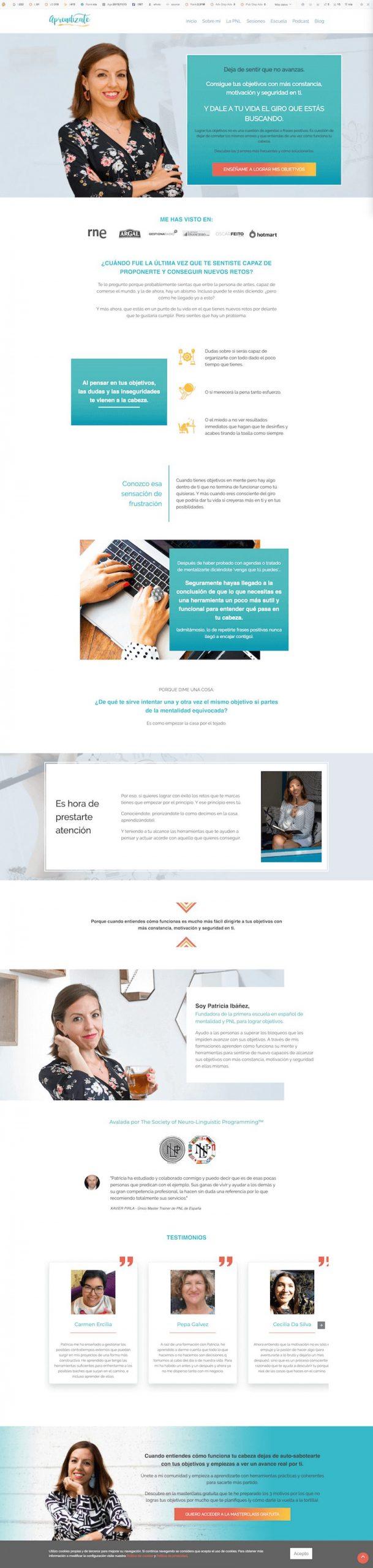 Ejemplo pagina de servicios
